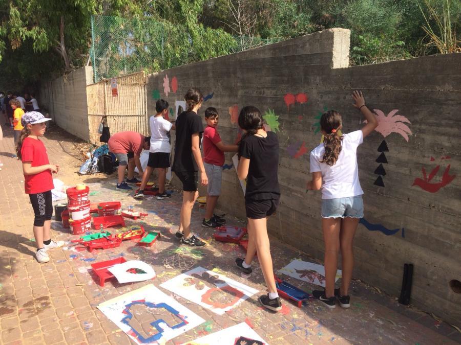 ציורי קיר רחוב התמר
